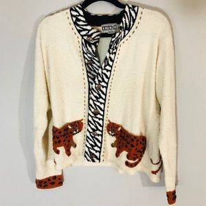 VINTAGE Berek animal cardigan